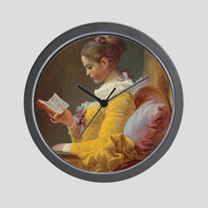 Young Girl Reading Wall Clock