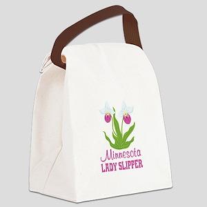 Minnesota Lady Slipper Canvas Lunch Bag