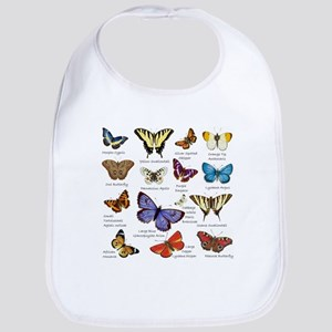 Butterfly Illustrations full colored Baby Bib