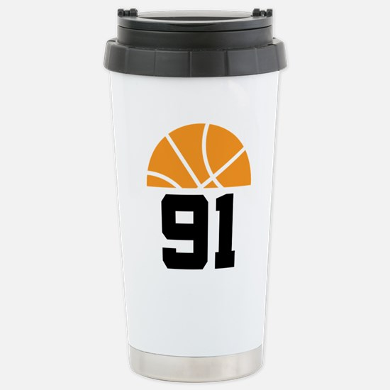 Basketball Number 91 Player Gift Stainless Steel T