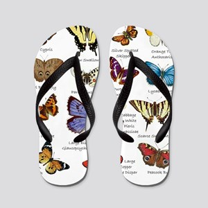 Butterfly Illustrations full colored Flip Flops