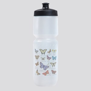 Butterfly Illustrations full colored Sports Bottle