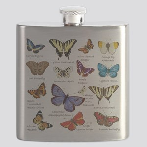 Butterfly Illustrations full colored Flask