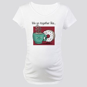 Coffee and Donuts Maternity T-Shirt