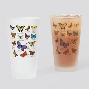 Butterfly Illustrations full colored Drinking Glas