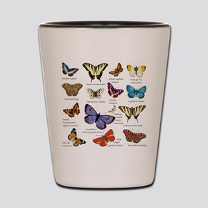 Butterfly Illustrations full colored Shot Glass