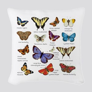 Butterfly Illustrations full colored Woven Throw P