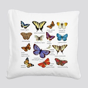Butterfly Illustrations full colored Square Canvas
