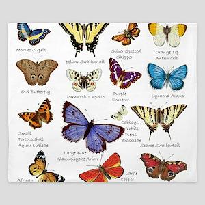 Butterfly Illustrations full colored King Duvet