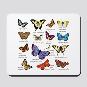 Butterfly Illustrations full colored Mousepad