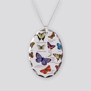 Butterfly Illustrations full colored Necklace