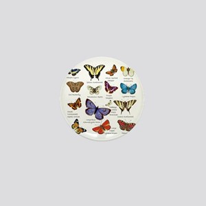 Butterfly Illustrations full colored Mini Button