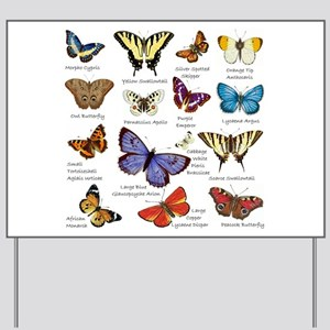 Butterfly Illustrations full colored Yard Sign
