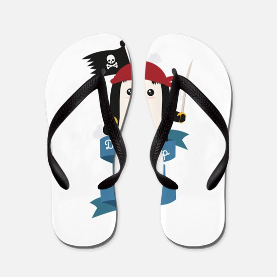 Dont mess up with a pirate Flip Flops