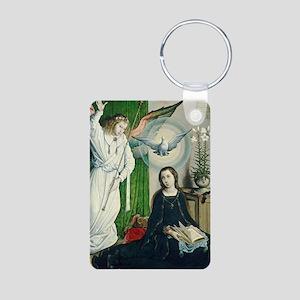 The Annunciation Aluminum Photo Keychain