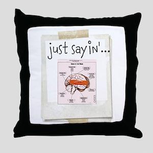 OYOOS Bandaid on Brain design Throw Pillow