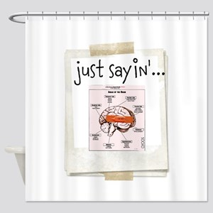 OYOOS Bandaid on Brain design Shower Curtain