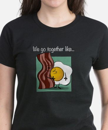 Bacon and Eggs Women's Dark T-Shirt