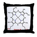 Molecularshirts.com Heme Throw Pillow