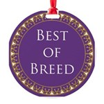 Best Of Breed Award Medallion Round Ornament