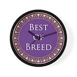 Best Of Breed Award Wall Clock