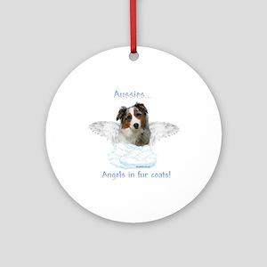 Aussie Angel Ornament (Round)