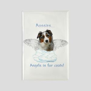 Aussie Angel Rectangle Magnet