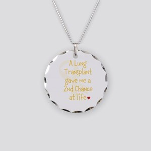 2nd Chance At Life (Lung) Necklace Circle Charm