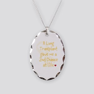 2nd Chance At Life (Lung) Necklace Oval Charm