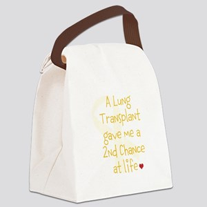 2nd Chance At Life (Lung) Canvas Lunch Bag