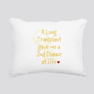 2nd Chance At Life (Lung) Rectangular Canvas Pillo