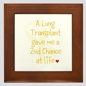 2nd Chance At Life (Lung) Framed Tile