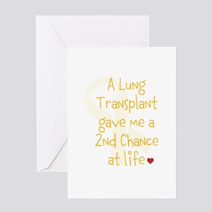 Lung transplant greeting cards cafepress 2nd chance at life lung greeting card m4hsunfo