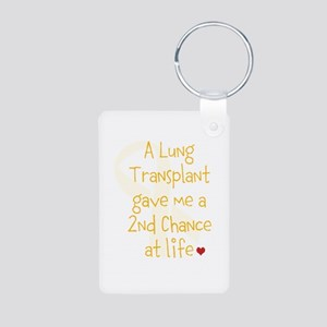 2nd Chance At Life (Lung) Aluminum Photo Keychain