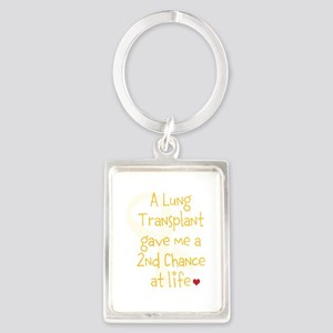 2nd Chance At Life (Lung) Portrait Keychain