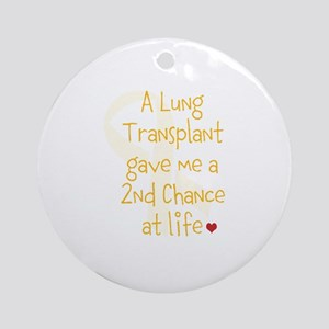 2nd Chance At Life (Lung) Ornament (Round)