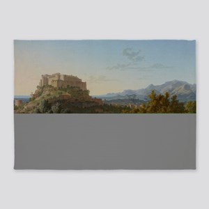 Landscape with the Castle of Massa  5'x7'Area Rug