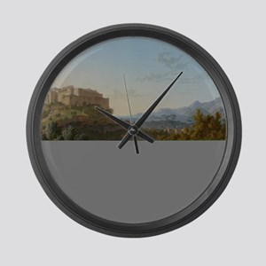 Landscape with the Castle of Mass Large Wall Clock