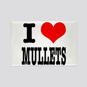 I Heart (Love) Mullets Rectangle Magnet