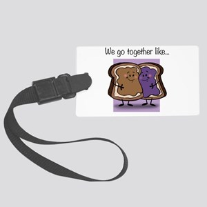 Peanut Butter and Jelly Large Luggage Tag