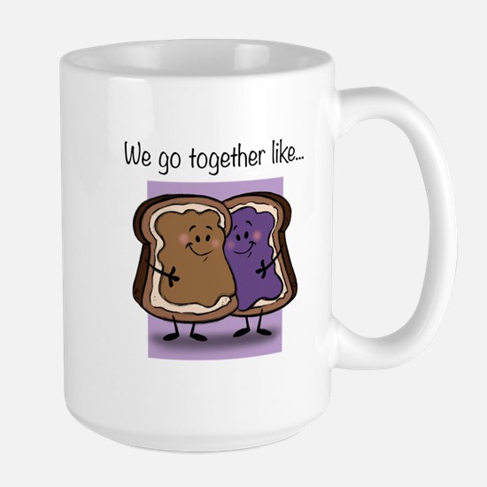 Peanut Butter and Jelly Large Mug