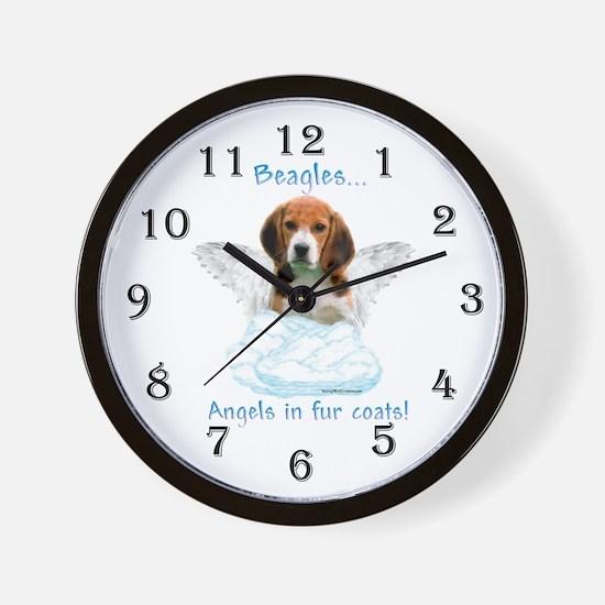 Beagle Angel Wall Clock
