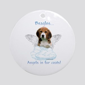 Beagle Angel Ornament (Round)