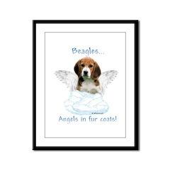Beagle Angel Framed Panel Print
