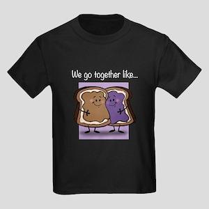 Peanut Butter and Jelly Kids Dark T-Shirt