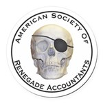 Renegade Accountants Round Car Magnet
