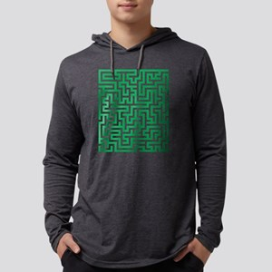 Green Maze Long Sleeve T-Shirt