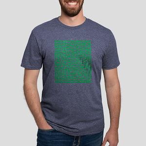 Green Maze Mens Tri-blend T-Shirt
