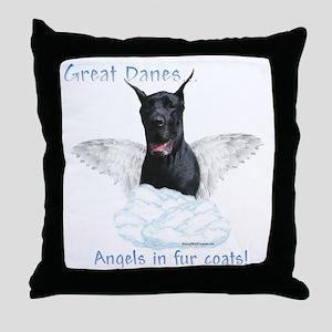 Dane(black) Angel Throw Pillow