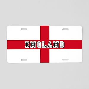 England Logo Flag Aluminum License Plate